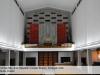 Erste Ansicht des Prospektentwurfs in moderner Formensprache, die sich an Form und Farblichkeit am Kirchraum orientiert.